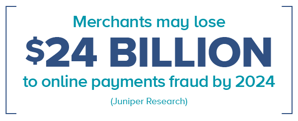 eCommerce fraud detection and prevention can help stop merchants from losing $24 billion to online payments fraud by 2024.