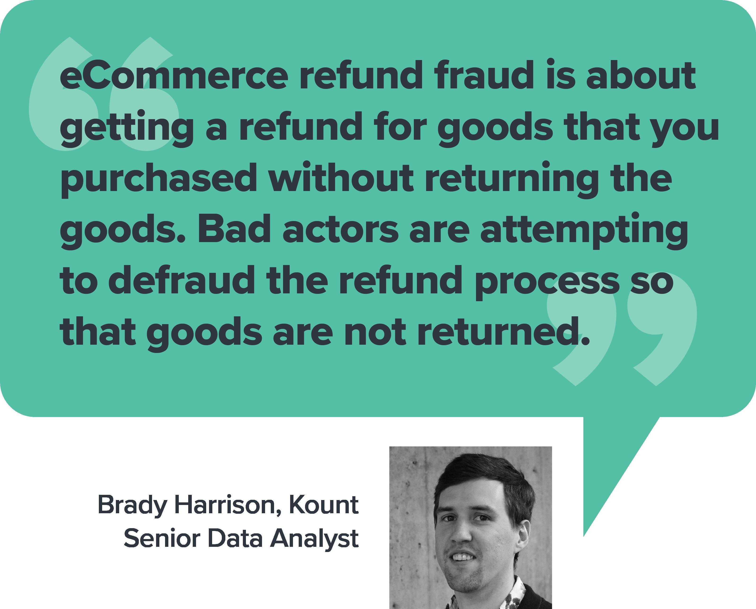Refund Fraud Quote