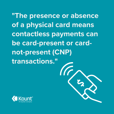 The contactless payment symbol with a text overlay that says,
