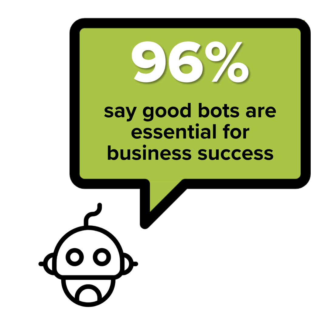 Bot statistic: 96% say good bots are essential for business success